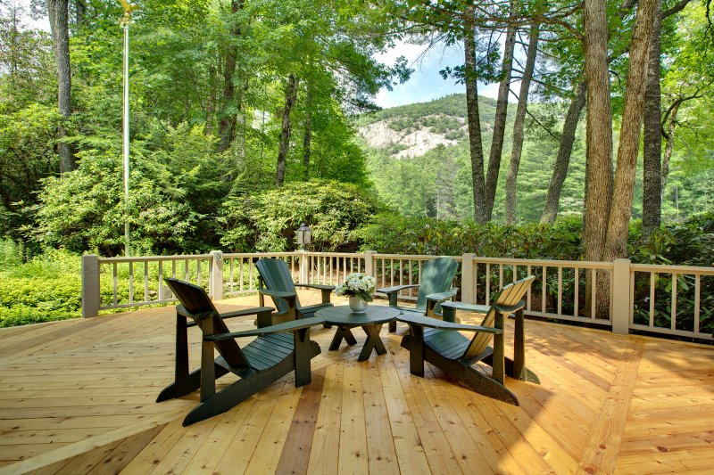 Deck of a home in Wade Hampton
